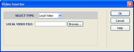 Inserting a local video
